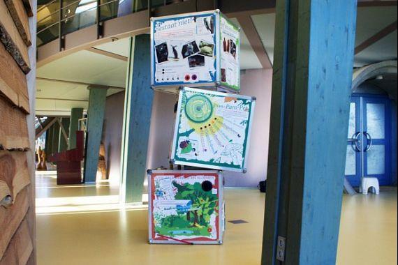 Een zuil in bezoekerscentrum De Hoep, Castricum