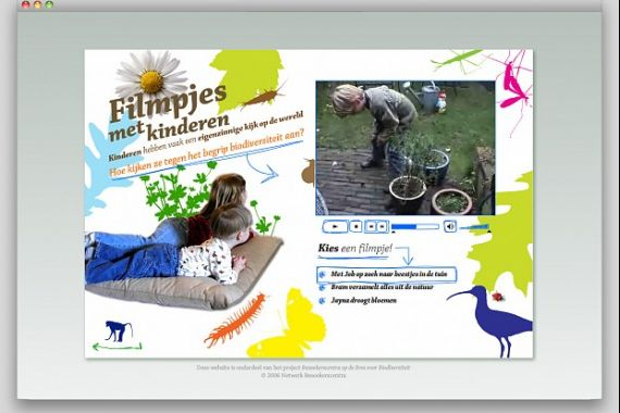 Een pagina van de website